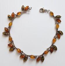 Jolie bracelet en argent 925 et pierres ambre.X103