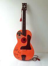 More details for lovely rare vintage 1964 beatles big 6 selcol orange toy guitar in original box