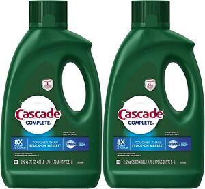 Cascade Dishwasher Detergent Complete Gel Fresh Scent 75 oz - 2 Pack