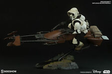 Sideshow Star Wars 1/6 Imperial Scout and Speeder Bike MIB