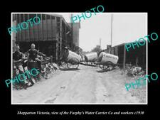 OLD LARGE HISTORIC PHOTO OF SHEPPARTON VICTORIA, THE FURPHY WATER  TANK Co c1930