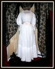 Antique Victorian Edwardian Gibson Girl Tuck Everlasting Lingerie Dress/Gown