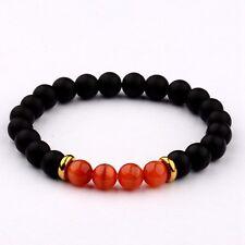8MM Natural Lava Red  Cats Eye Beads Charm Man Woman Fashion Bracelets Gift