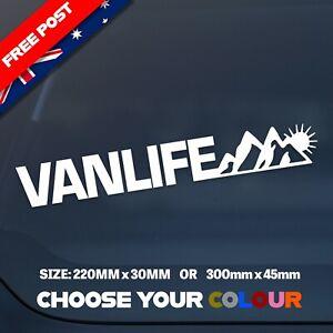 'VANLIFE' Van Life Scenic Vinyl Cut Decal/Sticker 300x45mm WATERPROOF/DURABLE