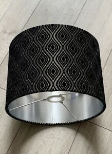 new LUXURY HQ Moroccan design silver and black pattern lamp shade pendant shade