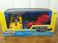 JUNIOR RACERS Jet racer & Race car Push'N GO powered.Brand New