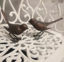 Bird pair Garden Ornament, Statue  Bronze Effect Cast Iron Birds
