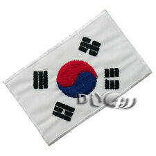 Korea National Flag Patch Embroidered  Sew or Iron on Patch Badge Red DIY