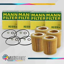 Set of 4 MANN FILTER HU816X Gaskets and Seal BMW Oil Filter 100% GENUINE