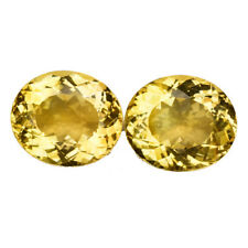 19.325CTS MARVELOUS LUSTER YELLOW NATURAL CITRINE OVAL 2PCS VIDEO IN DESCRIPTION