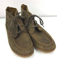 Ariat Leather Boots Boys 3.5 Holbrook Chukka Boot Western Western Brown Moc Toe