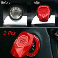 1×Red Ignition Switch Protection Cover Fit For Sports Car Interior Modified