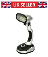 12 LED Bright Portable Lamp Battery Operated Desk Reading Work Table Light UK