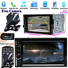 Car Stereo DVD 2DIN AM/FM Radio Mirror Player+Camera For Nissan Sentra 2007-2011