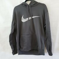 Nike Men's Dark Grey/White Therma Fit Fleece Pullover Hoodie (CI5797-060) Sz XL