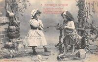 CPA - Edition Bergeret - La Cigale et La Fourmi - 4