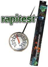 Dial Soil Compost Thermometer Temperature Gauge Rapitest Celcius Fahrenheit 1635