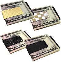 Stainless Steel Money Clip Cash Note Holder Silver Gold Slim Wallet Wedding Gift