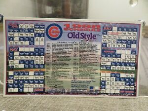 CHICAGO CUBS 1998 MAGNET SCHEDULE