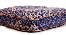 Indian Gold Ombre Mandala Floor Pillow Meditation Square Cushion Cover Dog Bed