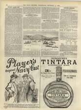 1891 Players Navy Cut Burgoynes Tintara