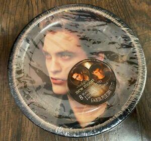 Twilight New Moon Edward Birthday Party Paper Plates Hallmark Team NEW 8