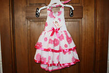 NWT • LELE FOR KIDS Baby Girl's Pink & White Floral Tiered Halter Dress 2T