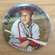 Stan Muscial HF7 Baseball Hall of Fame St. Louis Cardinals Button