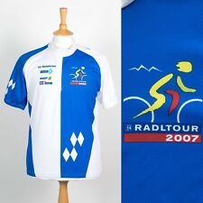 RADLTOUR 2007 CYCLING SHIRT JERSEY BLUE AND WHITE RETRO ROAD BIKE CYCLE L