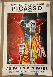 1970 Pablo Picasso Art Exhibition Poster Henri Deschamps Litho Mourlot Festival