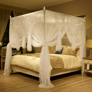 Chinese style mosquito net with frames bed netting on sales bed canopy queen new