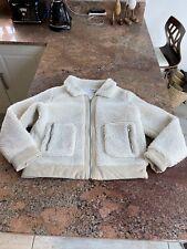 Size 10 Medium Cream Teddy Bear Fur Jacket Coat Glamorous