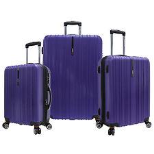Traveler's Choice 3-Piece Tasmania Purple Pure Polycarbonate Luggage Spinner Set