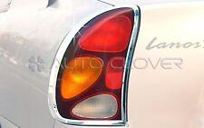 Chrome Tail Light Lamp Cover Molding Trim for 00-02 Daewoo Lanos Sens +Tracking