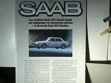 CATALOGUE/AFFICHE SAAB 900 /900TURBO  /2 /4 PORTES 1980