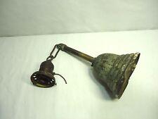 Brass Bell Canopy Ceiling Light Fixture P & S Socket Antique Restore Repair VTG