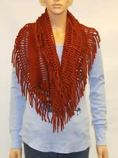 Vans Rebel Riot Infinity Cowl Tube Scarf Womens Rust Red Orange Fringe NWT OSFM