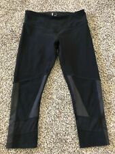 Mondetta Ladies Capri Yoga/running Workout Pant Size Small Black w/ Net