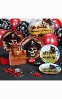 PIRATE CHILD BOYS BIRTHDAY PARTY PACK SUPPLIES DECORATIONS BALLOONS PLATES