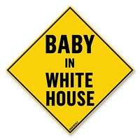 "Anti Trump Baby In White House Bumper Sticker 5"" x 5"" Car Truck Vinyl Decal"