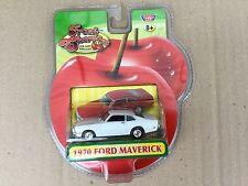 MOTOR MAX 1/64 WHITE 1970 FORD MAVERICK  FRESH CHERRIES SERIES # 73600FC F/S NEW