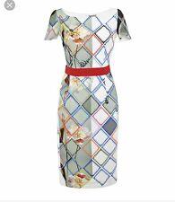 New Preen By Thornton Bregazzi Crepe Liberty Dress SZ L $695
