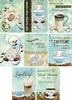 Coffee Lover Glossy Finish Card Topper - Crafts Embellishment