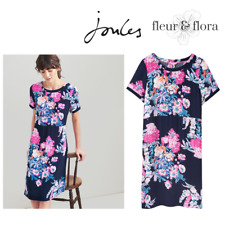 Joules Navy Floral Krista Printed Short Sleeve Shift Dress Size 12
