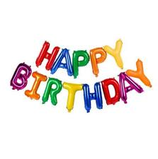 "16"" Rainbow HAPPY BIRTHDAY Foil Letter Balloon Banner"