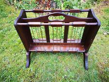 VIntage Magazine Rack. Varnished Dark Wood