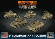 Flames of War UBX69 Late War United States M4 Sherman Tank Platoon Battlefront