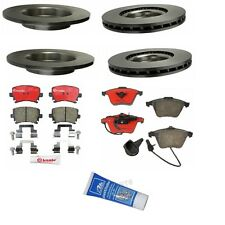 Audi A4 A4 Quattro 05-09 Brake Kit Front+Rear Brembo Rotors Pads Lubricant