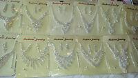 Joblot 12 pcs Diamante sets - Necklace & Earrings Wedding prom Wholesale Lot B