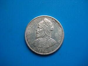 1904 Panama Silver 50 Centavos